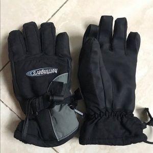 Hot fingers men's ski gloves medium